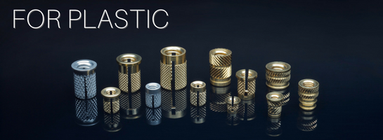 E-Z Press™, E-Z Fin ™, E-Z Sonic™ Threaded Inserts for Plastic