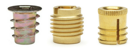 E-Z Hex™, E-Z Knife™, E-Z Press™ Threaded Inserts for Wood