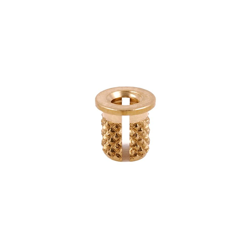 E-Z Press™ Threaded Insert - Flanged - Brass - 6-32