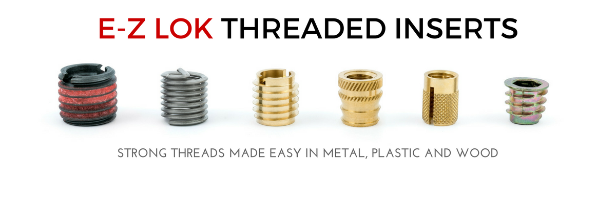 E Z Lok Threaded Inserts For Metal Wood And Plastic